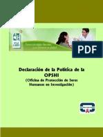 6. Politicas OPSHI