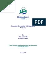 Homeshare Victoria Economic Evaluation
