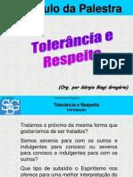 Tolerancia e Respeito