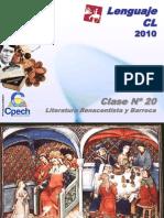 Clase 20 Lenguaje Cpech - Renacimiento & Barroco (OliverClases)