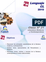 Clase 21 Lenguaje Cpech - L Moderna & Contemporanea (OliverClases)