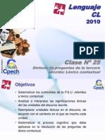 Clase 25 Lenguaje Cpech - Sintesis (OliverClases)