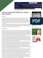 African Democracy Politicians