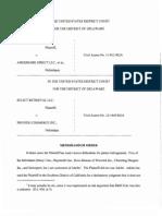 Select Retrieval LLC v. Amerimark Direct LLC, et al., C.A. No. 11-812-RGA (D. Del. Jul. 3, 2013)