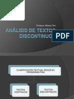 Analisis de Textos Discontinuos