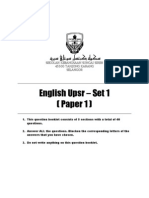 English UPSR Paper 1