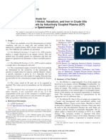 ASTM D5708 Determination of Nickel, Vanadium, And Iron in Crude Oils and Residual Oil by ICP OES