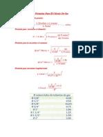 Formulas Para El Cálculo De Gas