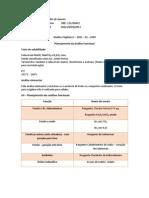 Planejamento da Análise Funcional - Sólido