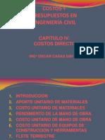Costos y Presupuestos - Cap IV-costo Directo (r4)