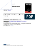 On Musical Mediation Ontology, Technology