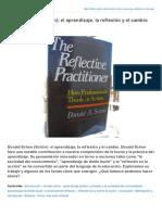 Infed.org-Donald Schon Schn El Aprendizaje La Reflexin y El Cambio