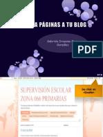 5. Coloca páginas en tu blog