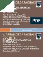 Areas de Capacitacion Docente