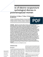 Effects of Electro-Acupuncture on Psychological Distress in Postmenopausal Women.
