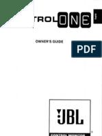 JBL Control One Manual
