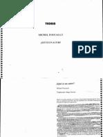 FOUCAULT, Michel - Qué es un autor_ (Espanhol)