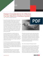 HMI Systems Design Considerations