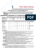 07.11.13 Post-Game Notes