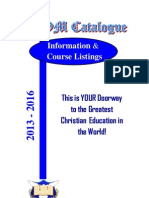 Montreal School of Ministry Catalogue