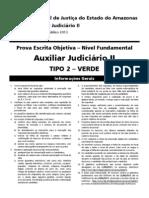 Tjam - Diversos Cargos - Auxiliar Judiciario II - Tipo 02