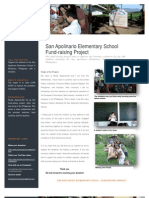 Introduction San Apolinario Elementary School Fundraising Project