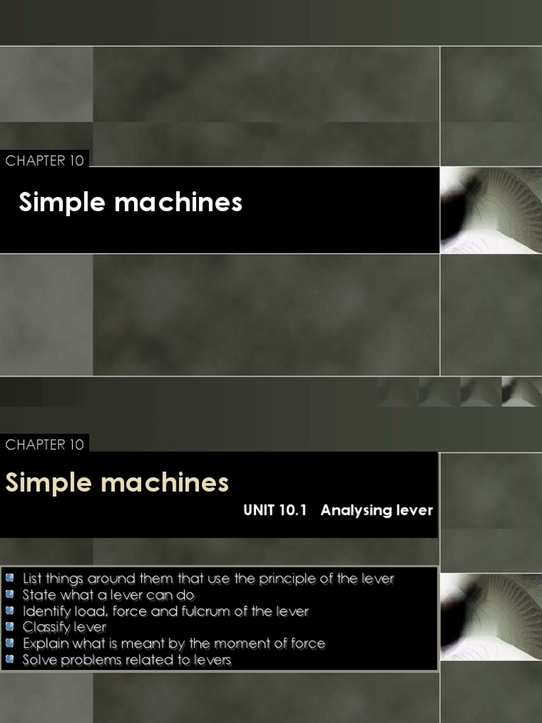 Notes Chapter 10 - Simple Machine | Lever | Classical Mechanics