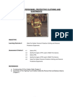 Fire Fighter Personal Protective Clothing and Personal Protetive Equipments.