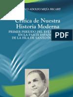 Mejìa Ricart - Crítica de nuestra historia moderna