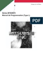 M700-70 Series Programming Manual (L-Type) - Mistubishi