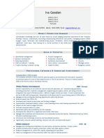 Works Production Manager CV