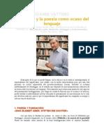 GIANNI VATTIMO-Poesia-ocaso Del Lenguaje