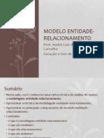 Aula 3 - Modelo Entidade-Relacionamento