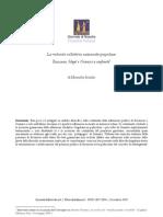 Ausulio - La Volonta Colletiva Nazionale Popolare, Rousseau, Hegel e Gramsci a Confronto