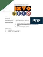 Explosive Safety Regulations