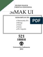 Soal Dan Pembahasan SIMAK UI 2013 (521)
