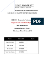 Construction Technology I - Singapore Gold Sand Marina Bay Hotel
