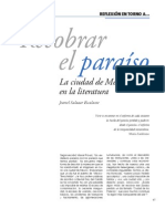 Recobrar el paraíso. La ciudad de México en la literatura
