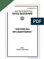 Ram Rorelnaa Mipui Mawhphurhna - Rev. Dr. K. Lallawmzuala