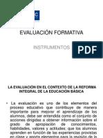 Evaluación formativa instrumentos