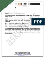 Aieee Sample Paper