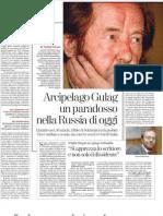 Arcipelago Gulag, Un Paradosso Nella Russia Di Oggi - La Stampa 12.07.2013