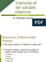 Deficiencies of Water Soluble Vitamins