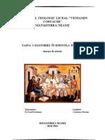 Taina Căsătoriei in Epistola Efeseni