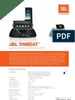Specification Sheet - JBL OnBeat (English)