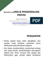 Monitoring Pengendalian Proyek