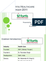 Fortis Healthcare Merger 2011