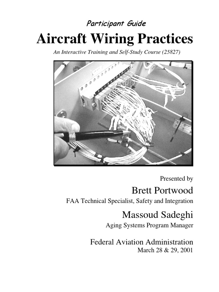 Aircraft Wiring Ref | Electrical Wiring | Federal Aviation Administration
