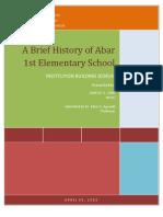 History of Abar 1st Elem. School