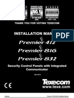 Texecom INS159-9 (Premier 412, 816 & 832 Installation Manual)
